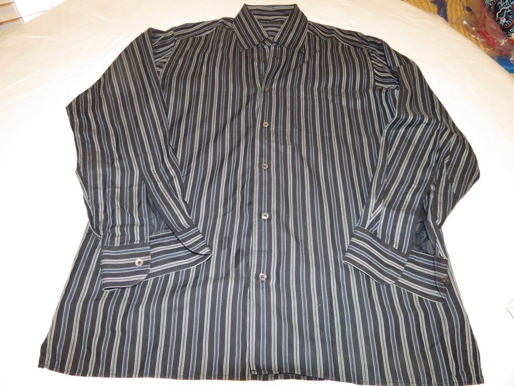 Mens Ermenegildo Zegna cotton M long sleeve button up shirt casual EUC@ #ErmenegildoZegna #ButtonFront