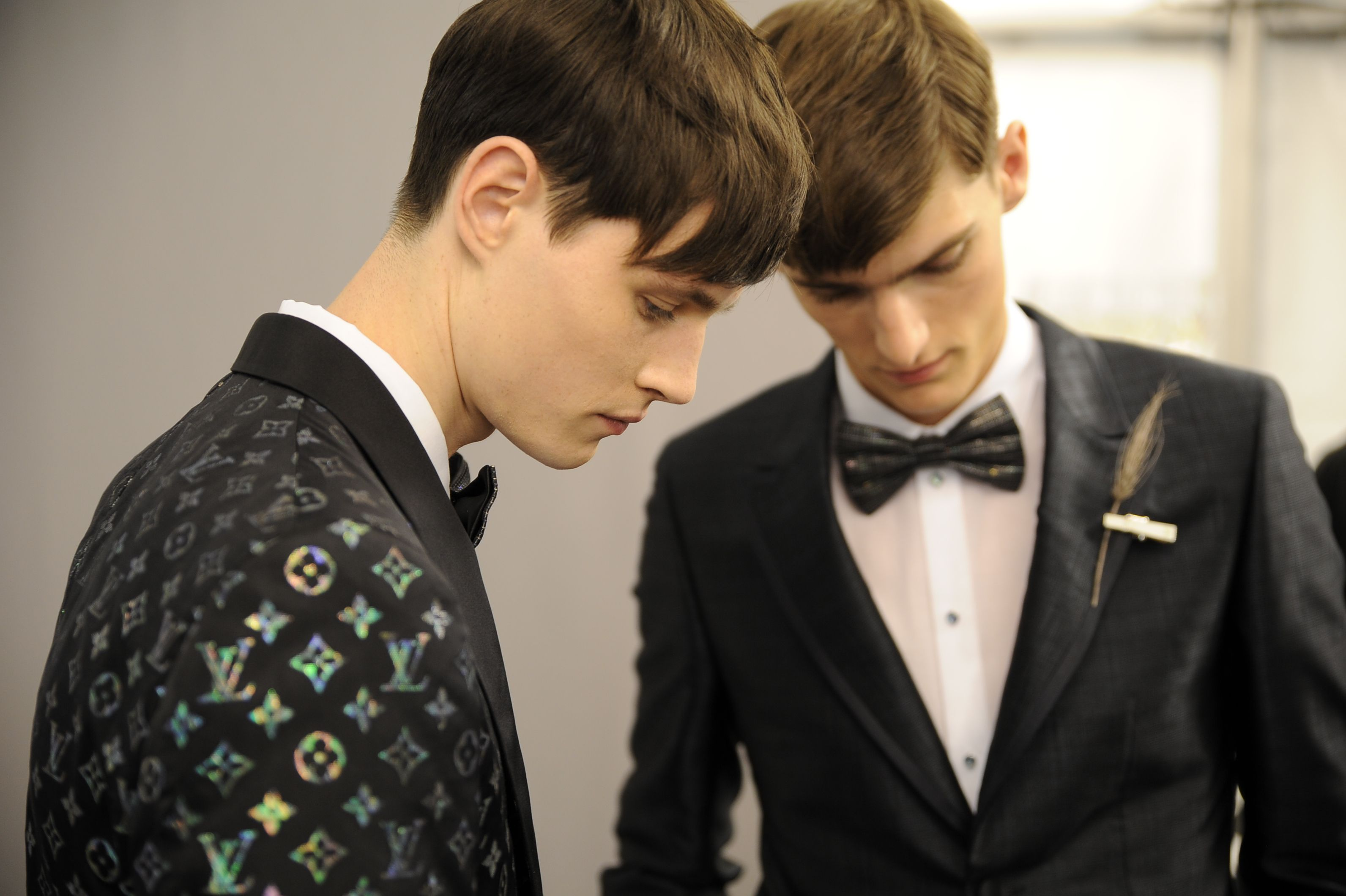 Backstage at the Louis Vuitton Men's Spring/Summer 2014 Fashion Show. ©Louis Vuitton / Matthieu Dortomb