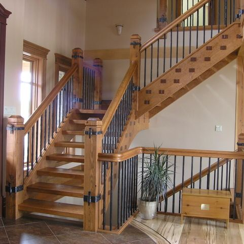 Rustic Stairway Design Ideas, Pictures, Remodel and Decor ...