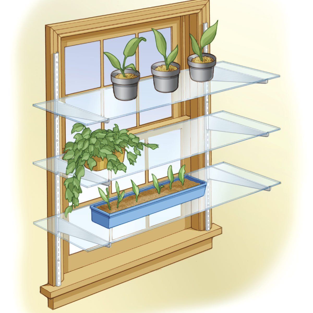 Kitchen Window Plant Shelf: Turn A Window Into A Mini Greenhouse