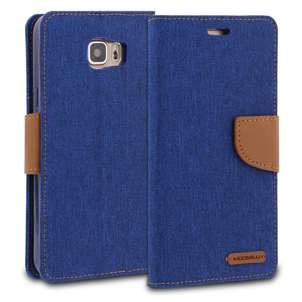 ModeBlu Pocket Diary Galaxy Note 5 Case Series Canvas Wallet Case Cover for Samsung Galaxy Note 5