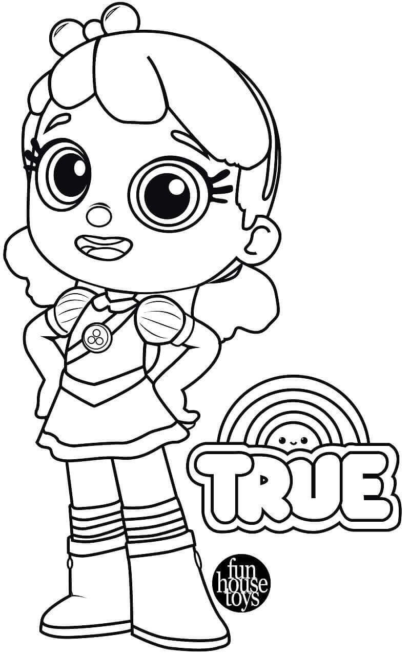 True From True And The Rainbow Kingdom Coloring Pages Happy Birthday Coloring Pages Birthday Coloring Pages Coloring Pages