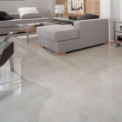 Porcelanosa marmol nilo 18 in x 18 in marfil ceramic floor and wall tile p14115021 at the home - Porcelanosa bodenfliesen ...