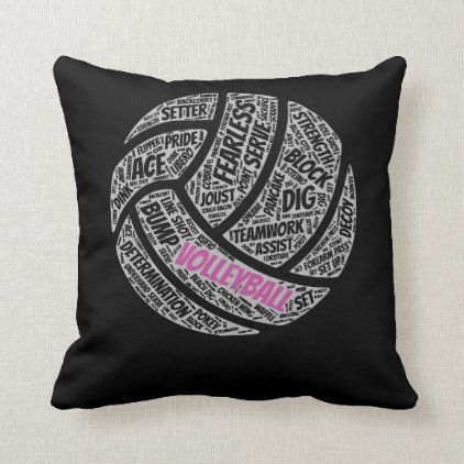 Volleyball shirt sayings gift for teen girls and w throw pillow