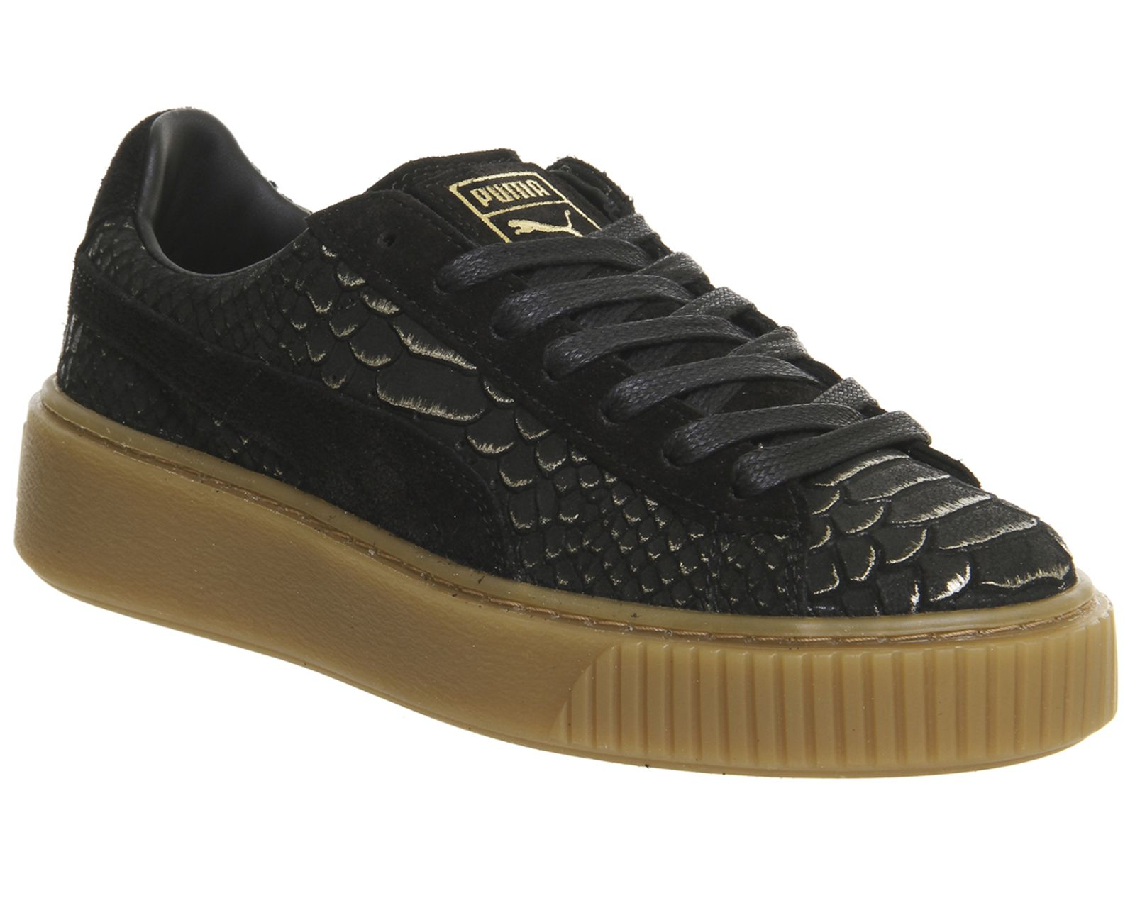 puma basket platform noir