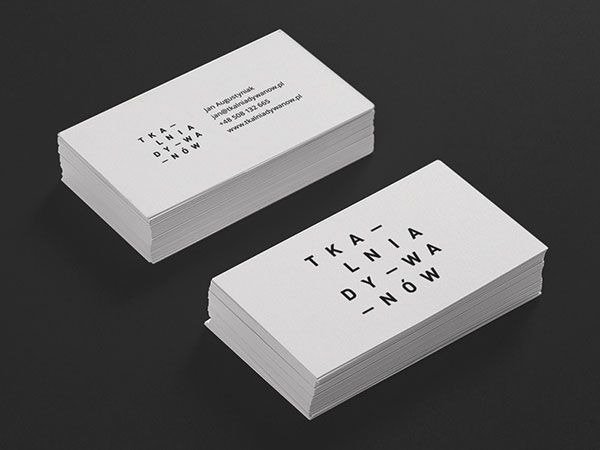 30 cool creative business card design ideas 2014 business business cards tkalnia by robert brodziak reheart Choice Image