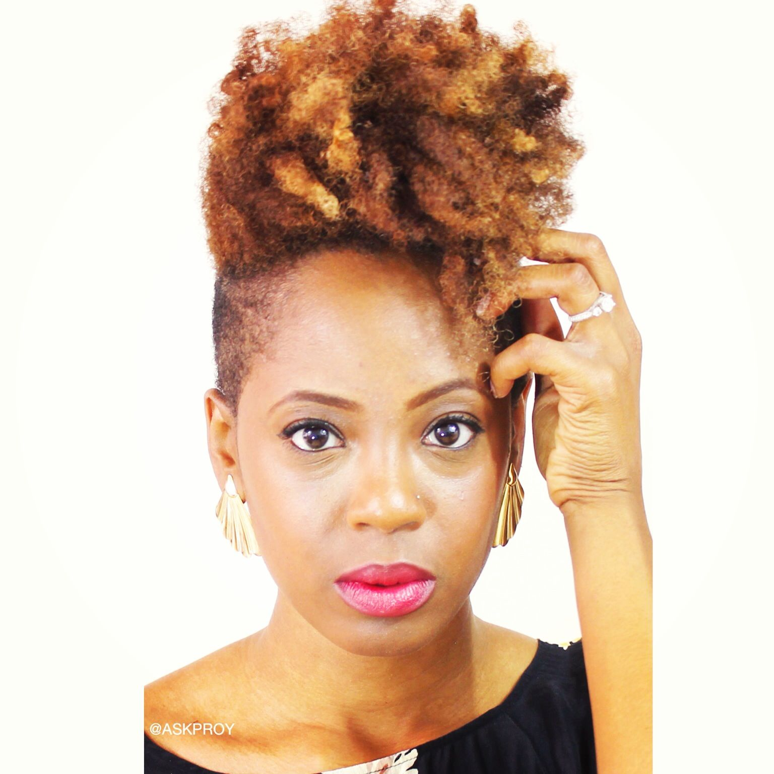 Honey Blonde Twa Fierceness Natural Hairstyles And Tips - Short tapered natural hairstyles
