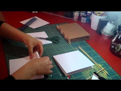 """rilegatura con bastoncini """"Piano hinge"""" Parte2 - YouTube"""