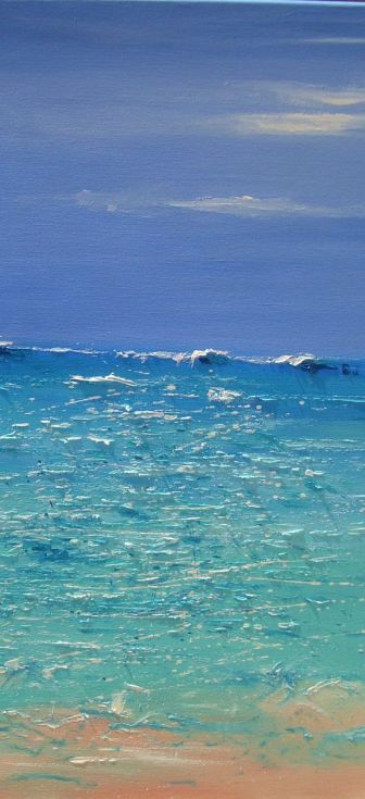 """Buy """" BIG BLUE """" SEA LARGE SIZE original painting CONTEMPORARY palette knife…"""