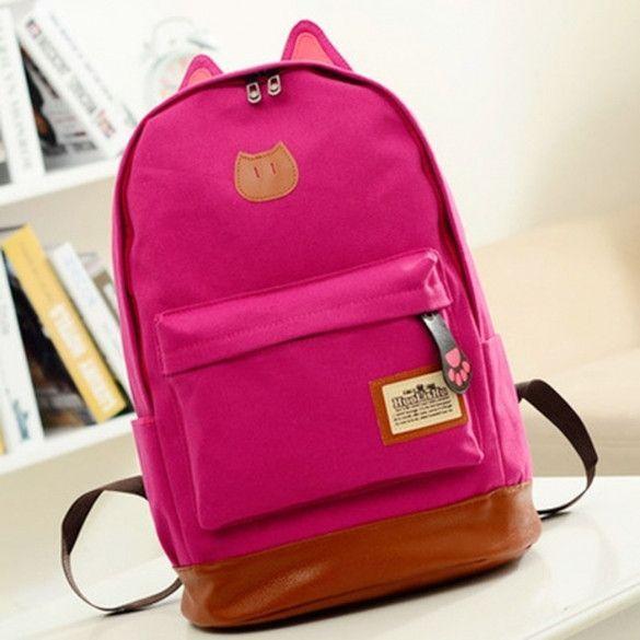 b5b47c202756 Boys Girls Korean Style Stylish Cool Shoulder Bag Canvas Backpack School  Travel Rucksack