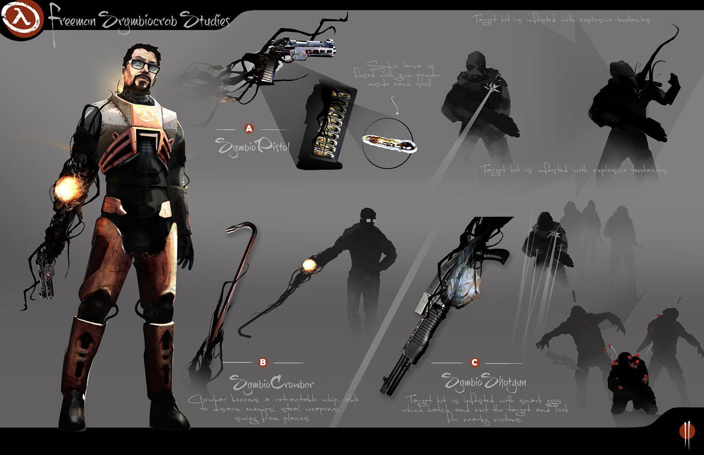 Half Life Artwork Gordon Freeman Symbiocrab By Manny