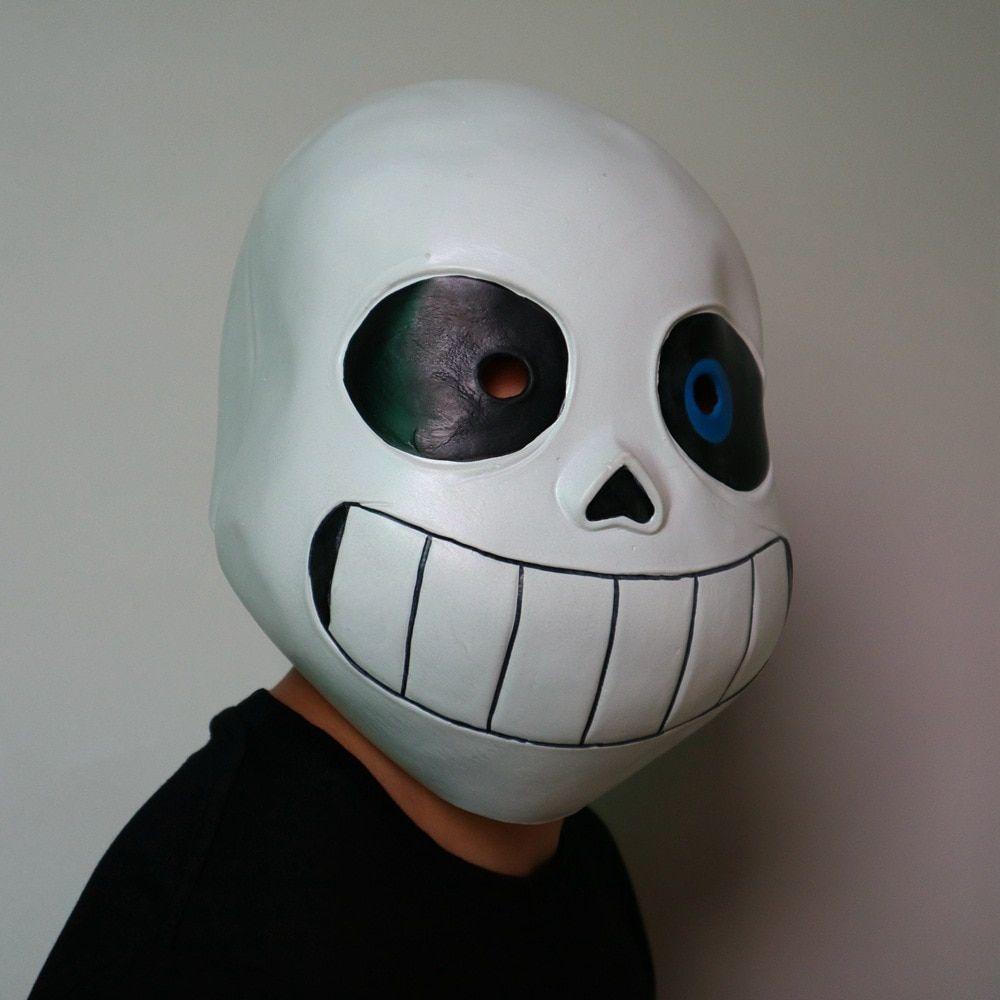 Kid Undertale COOL SKELETON Sans Cosplay Latex Mask Halloween Skull Cos Headgear