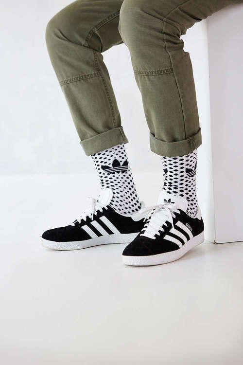 dd47fee5da84b adidas Gazelle 2 + White Trefoil Dot Sock Buy it  urbanoutfitters ...