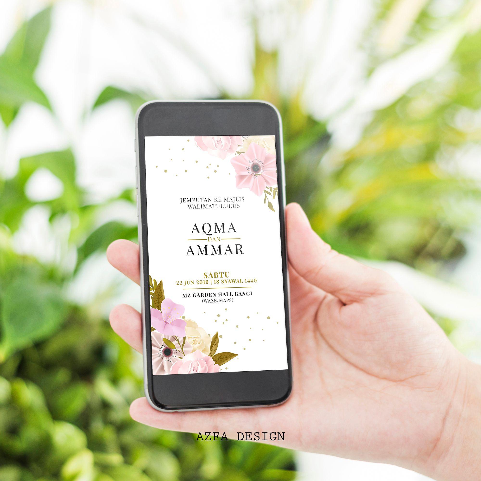 Azfadesign Kadkahwin Zaman It Ni Semua Nak Pakai Phone Kadang Nak Undang Tetamu Untuk Ke Majlis Kahwin Kita Pun B Blackberry Phone Invitation Cards Cards