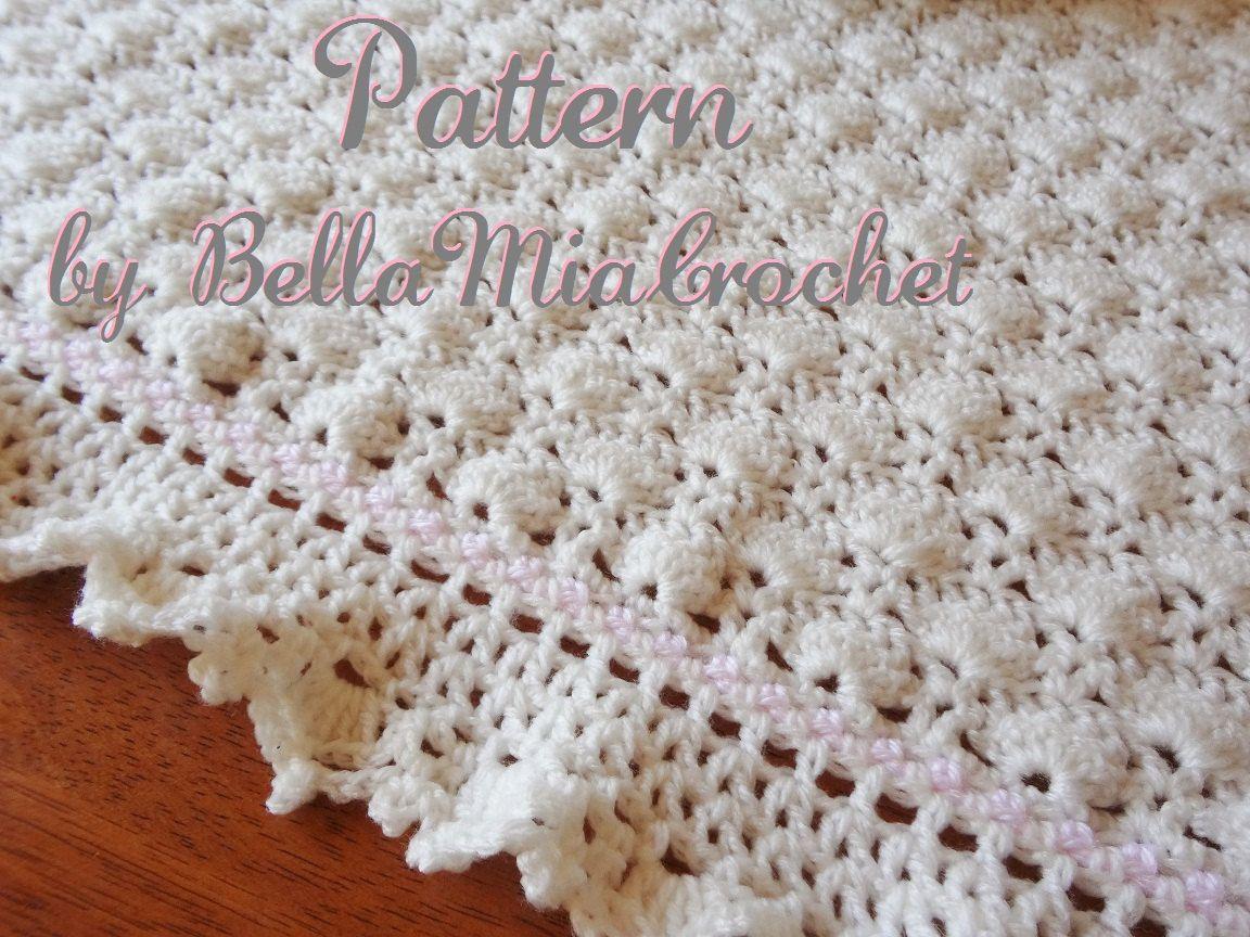 Libre Crochet Baby Girl Patrones Manta patrón manta de ganchillo ...