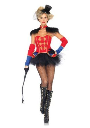 5bd8a93f1 Amazon.com: Leg Avenue Women's 4 Piece Ring Mistress Costume, Red/Black,  Large: Adult Sized Costumes: Clothing