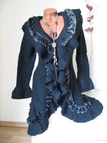 Strickjacke blau ebay