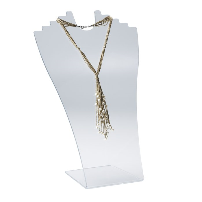 "Clear Acrylic Stepped Necklace Display from Rio Grande,  $21 with shipping, 13"" high"
