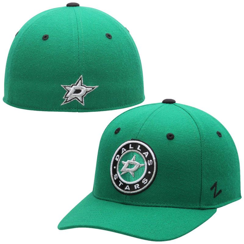 96d25f57e28 Dallas Stars Zephyr Alternate Crosscheck Fitted Hat - Green ...