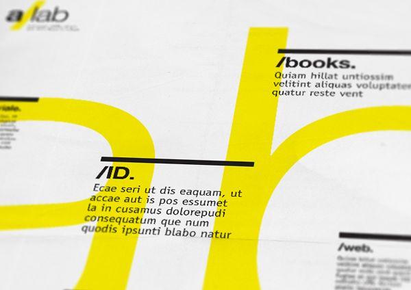 a/lab - Tabloid  |  EDITORIAL DESIGN by Andrea Mastroluca, via Behance