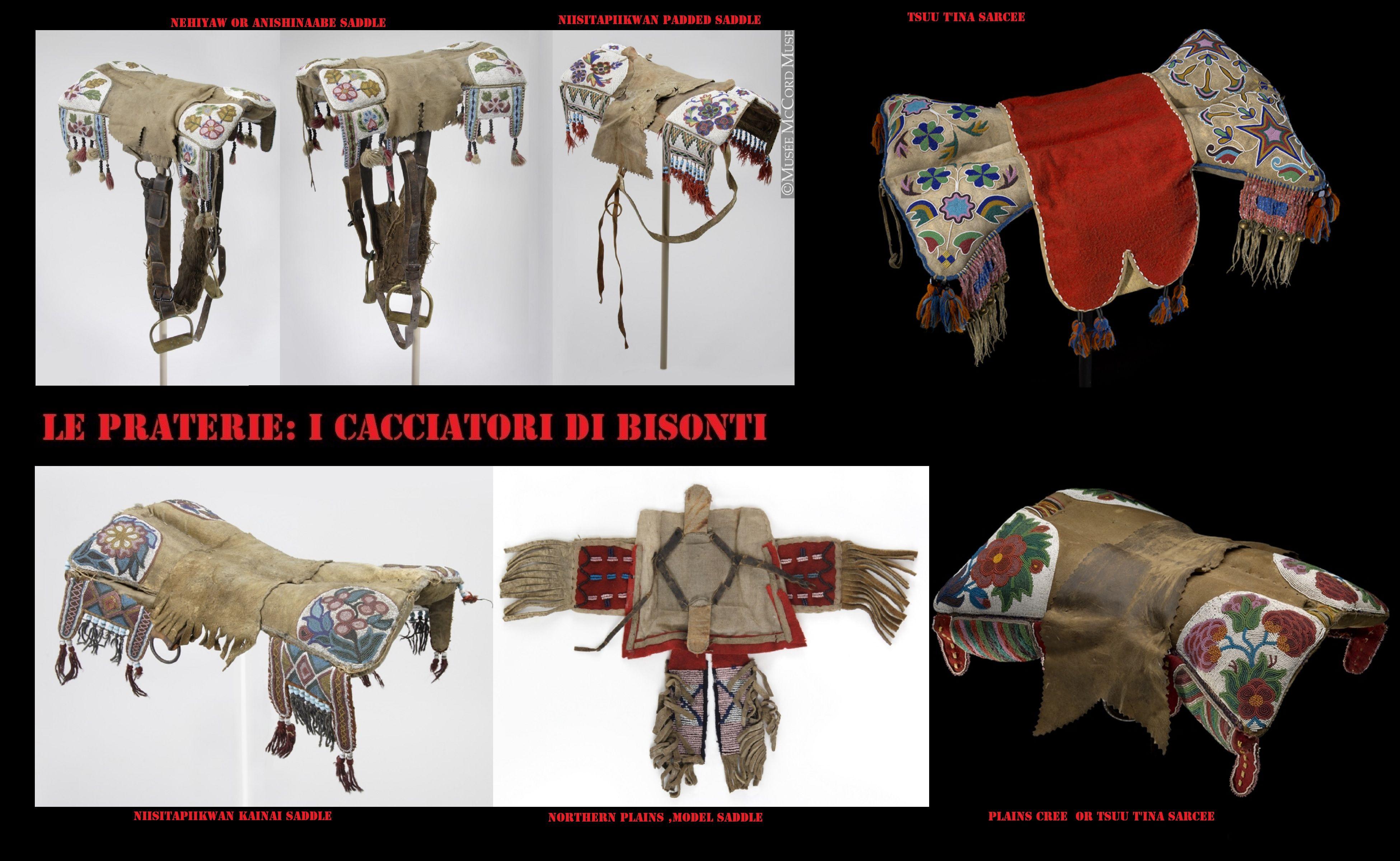 Le selle da uomo erano di dimensioni ridotte a forma di doppio cuscino.