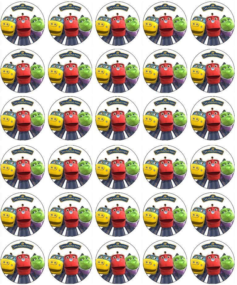 Chuggington Edible Cupcake Toppers Chuggington Printables