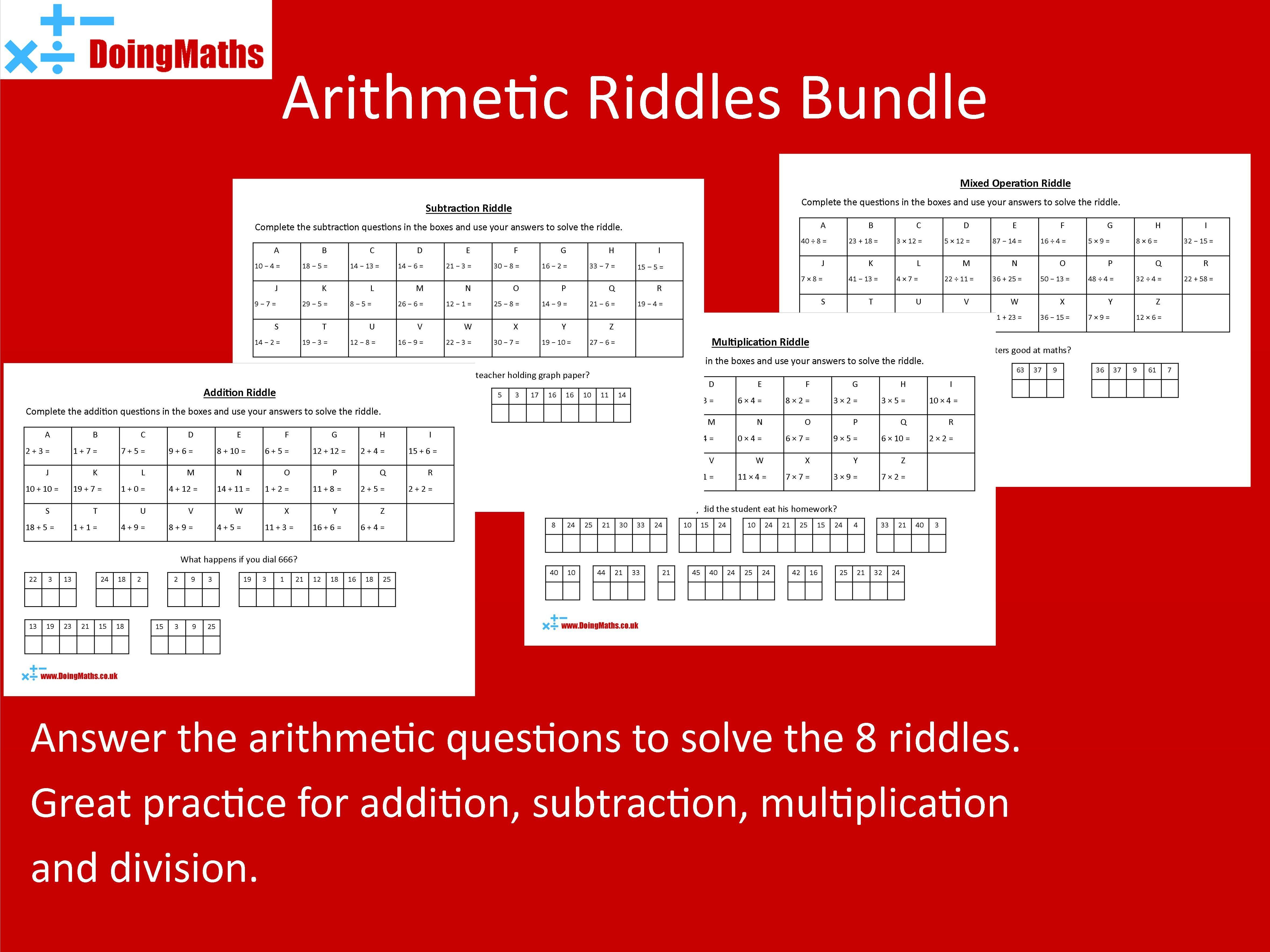 Arithmetic Riddles Bundle