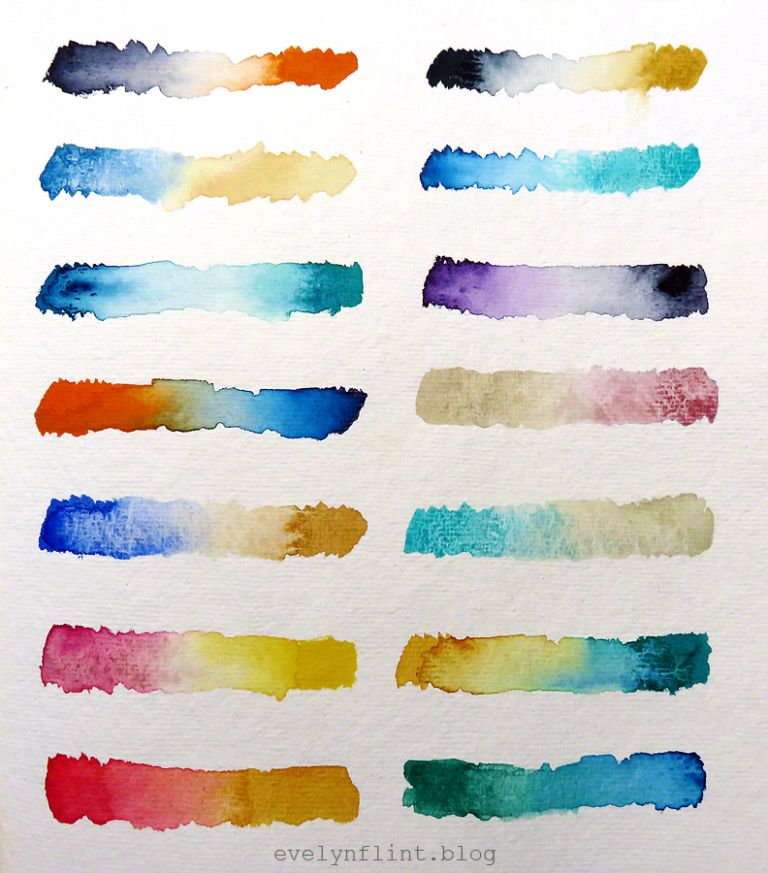 Daniel Smith Watercolour Pairs Watercolor Abstract Artwork Art