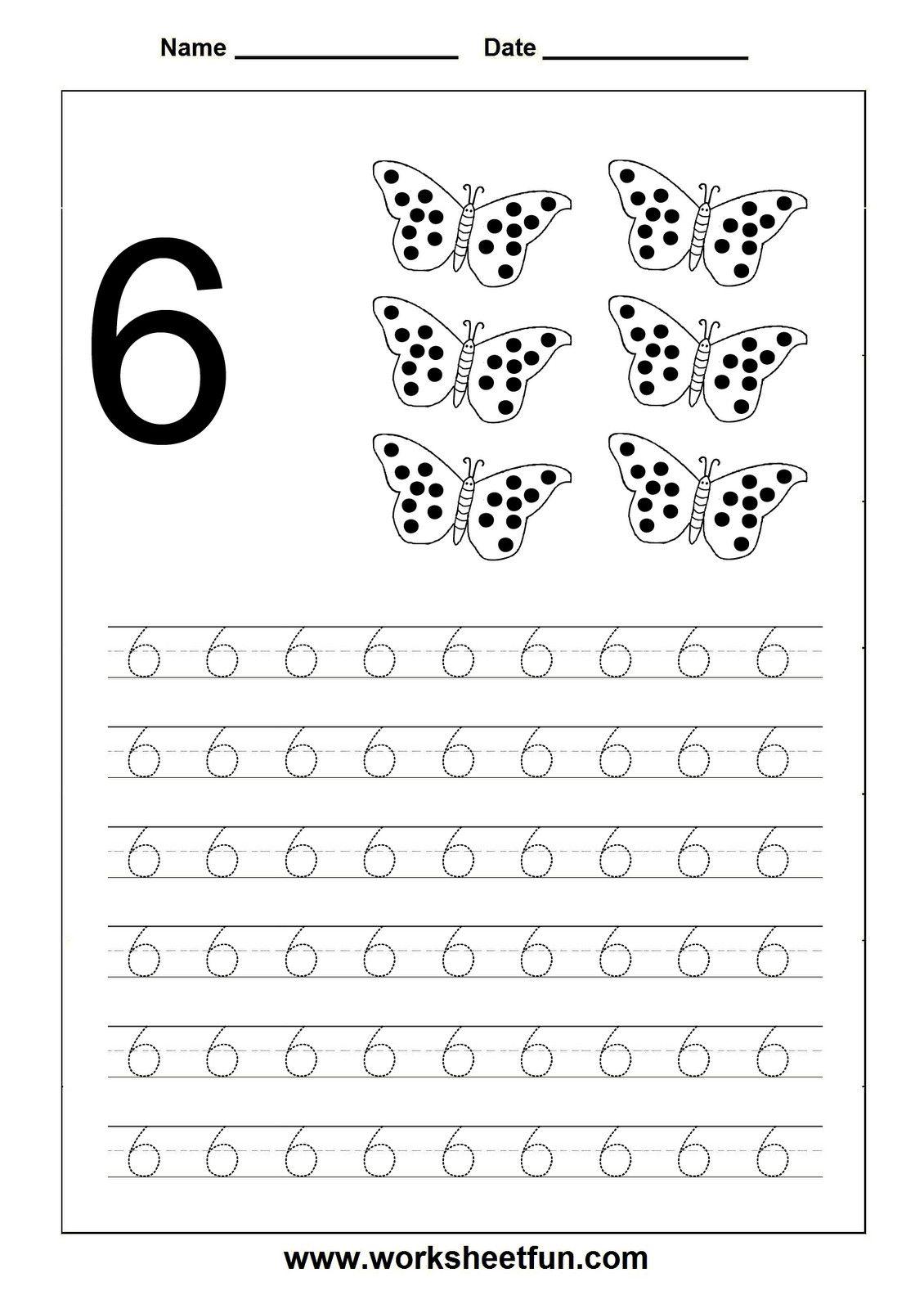 3 Number 6 Worksheets For Kindergarten 001 Number Tracing Worksheet 6 Pinterest Kindergar Tracing Worksheets Learning Worksheets Printable Preschool Worksheets [ 1600 x 1130 Pixel ]