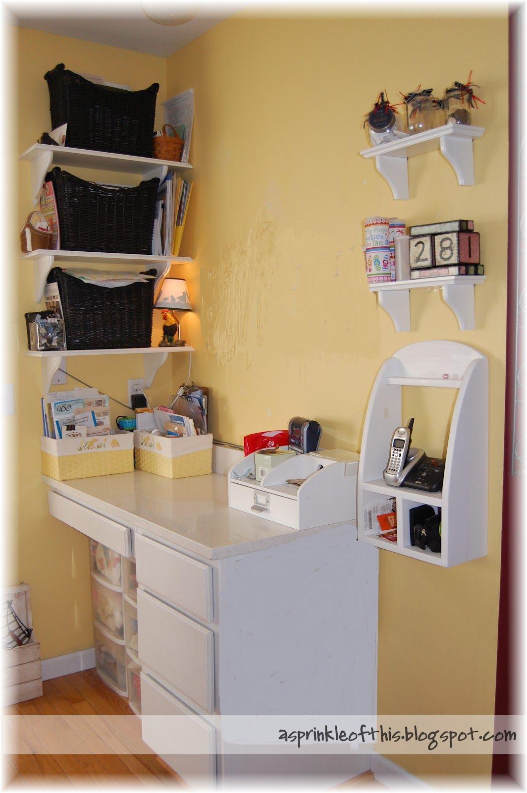 An Organized Kitchen Desk . . . . Tips For Organized Recipe Books, Plants,