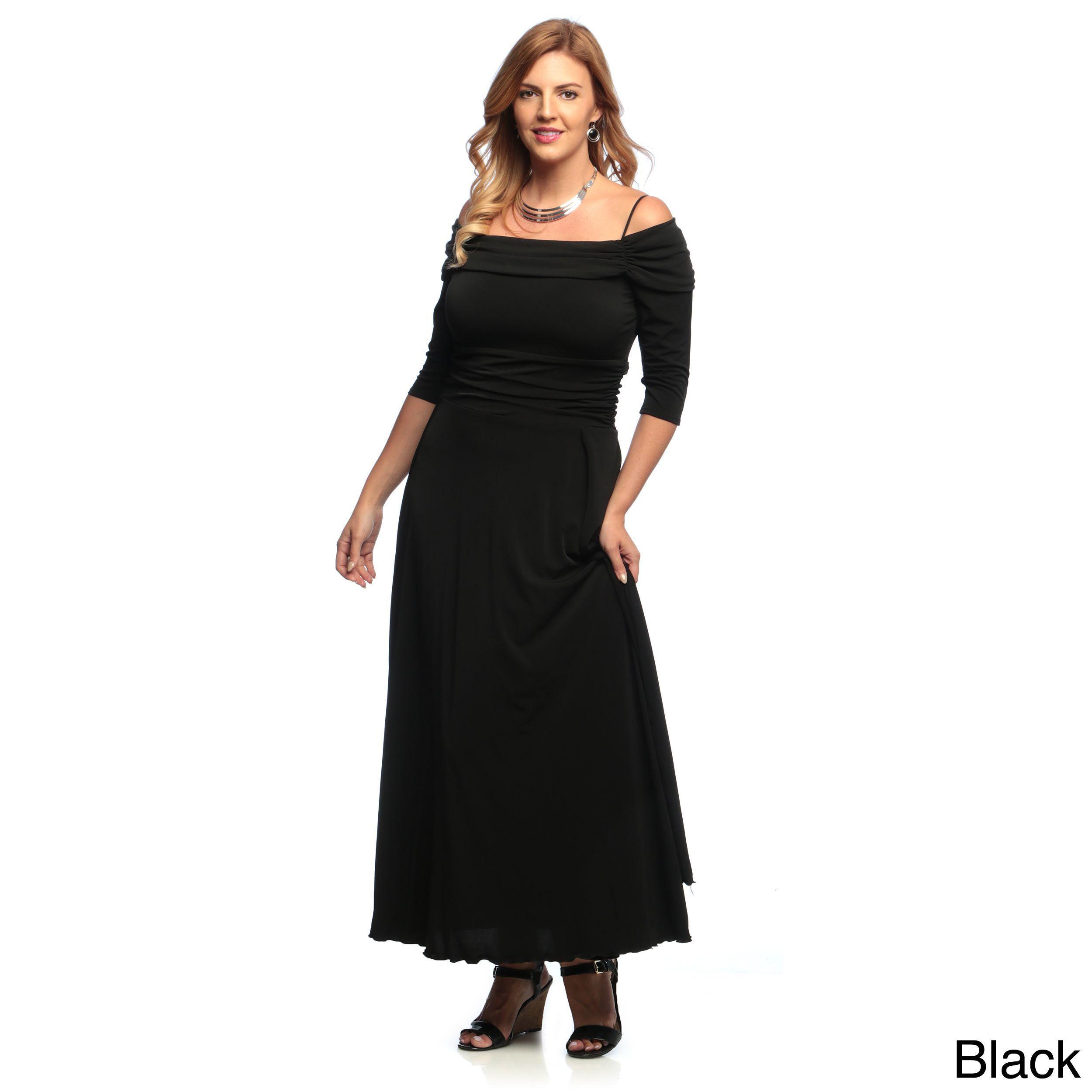 Evanese womenus plus size offtheshoulder sleeves dress x