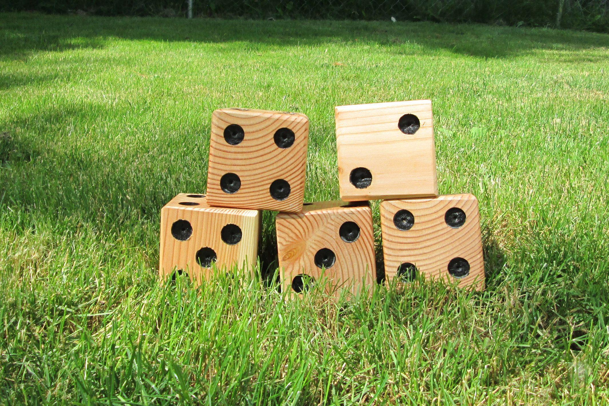 Games For Kids Wood Giant Yahtzee Yard Yahtzee Yard Dice Family