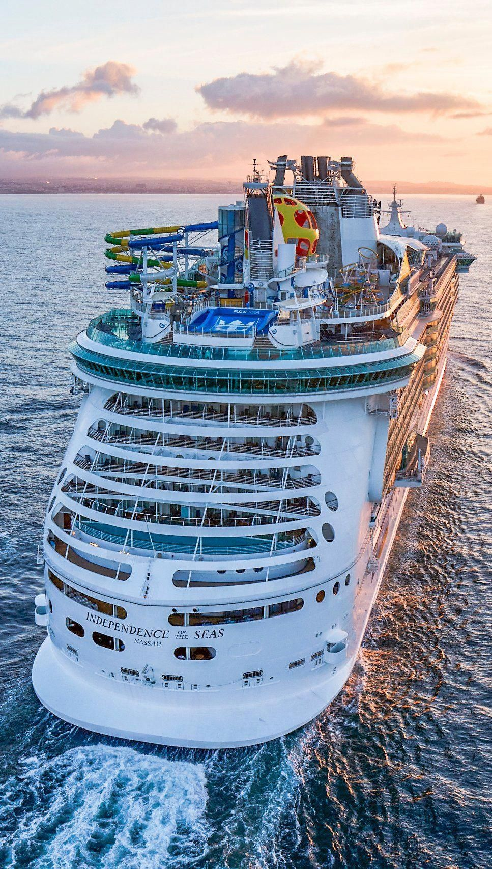 Independence Of The Seas Set Sail On The Entirely Reimagined And Redesigned Independenc Royal Caribbean Cruise Royal Caribbean Ships Independence Of The Seas