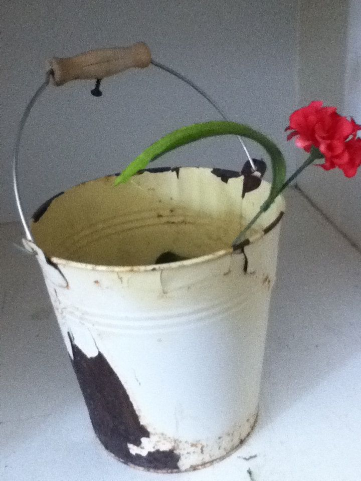 Garden BUCKET Primitive PLANTER PAIL By PunchedupPatina On Etsy. $15.00,  Via Etsy.
