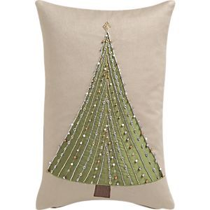 Arbor Lights Pillow in Christmas Decorating | Crate and Barrel