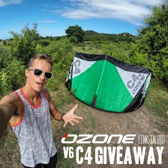 @ozonekites is giving away a brand new #OzoneC4V6. Find out how to enter in my bio  #OzoneKites #GoPro #Kiteboarding.