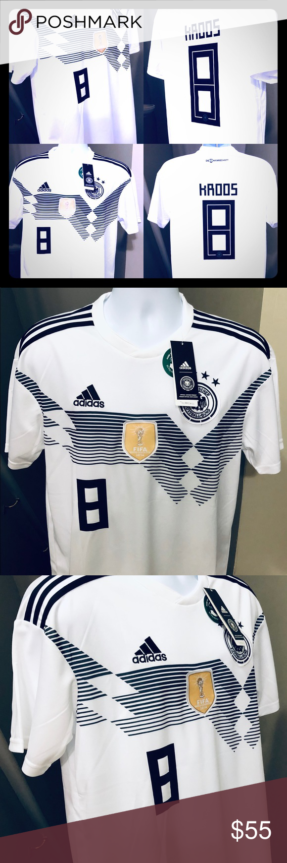 ca5b9e75 Toni Kroos #8 Germany Soccer Jersey World Cup 2018 Germany National Soccer  Team • Futbol Soccer Jersey Football 2018 Home Germany Soccer Jersey Toni  Kroos ...