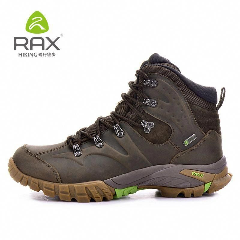 RAX Mens Waterproof Hiking Boots Genuine Leather Hiking Shoes Breathable  Boots Women Mountain Boots Waterproof Trekking Shoes  Hiking  hikingshoes 374be1c4aeff