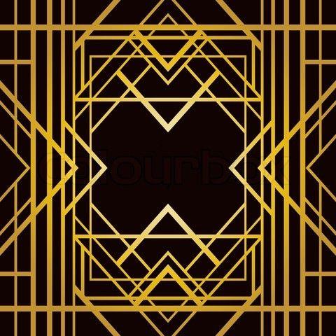 Vector Of Art Deco Geometric Pattern 1920 S Style Art Deco