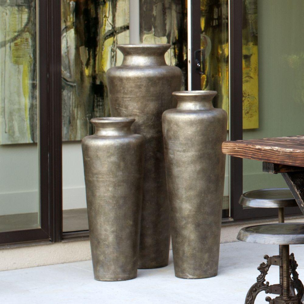Monterrey Silver Floor Vases JARRRONES Pinterest Decorating - Cylinder floor vase silver