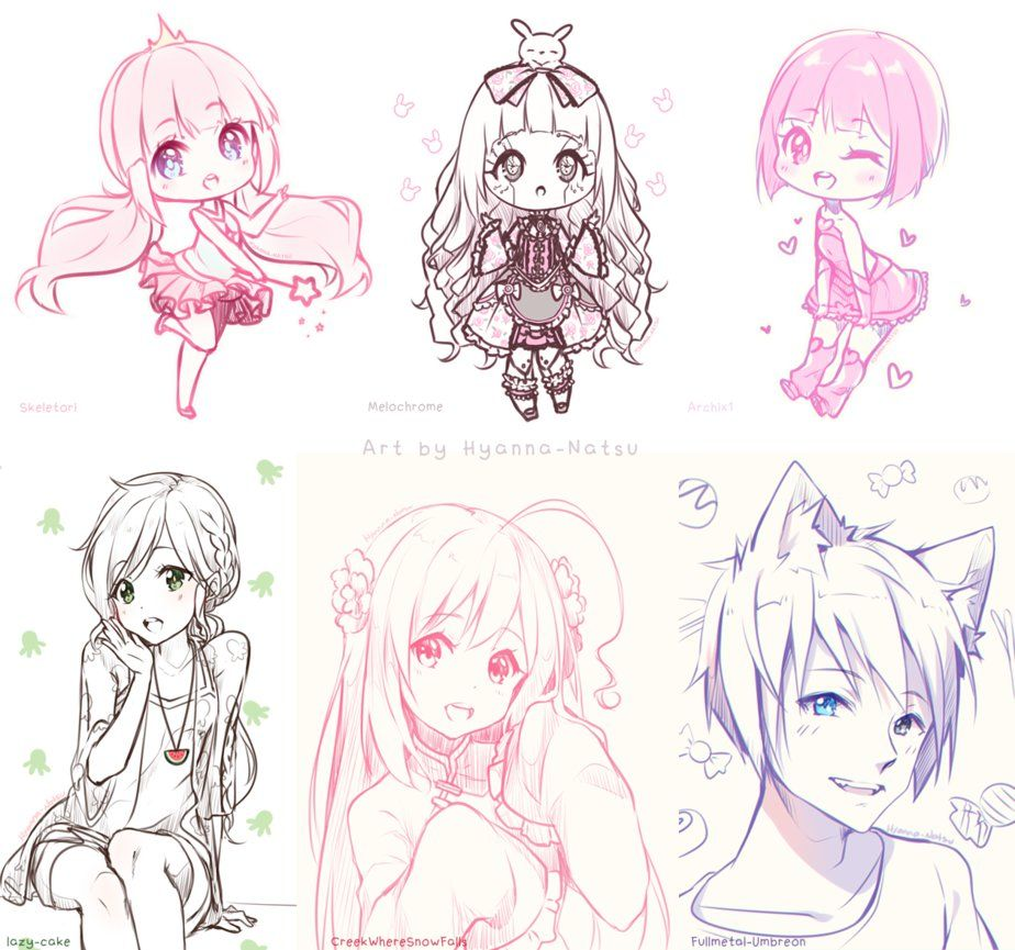 Happy Gifts Month 1 3 Anime Drawings Sketches Chibi Coloring Pages Anime Chibi