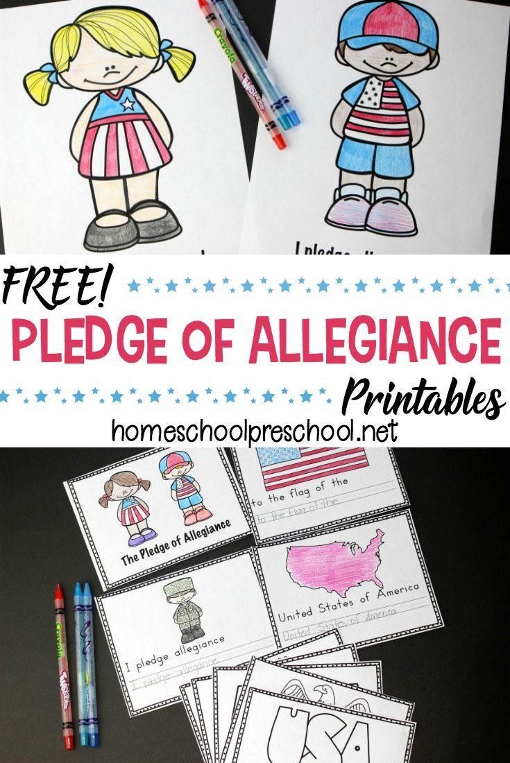 Pledge Of Allegiance Printables Homeschool Preschool