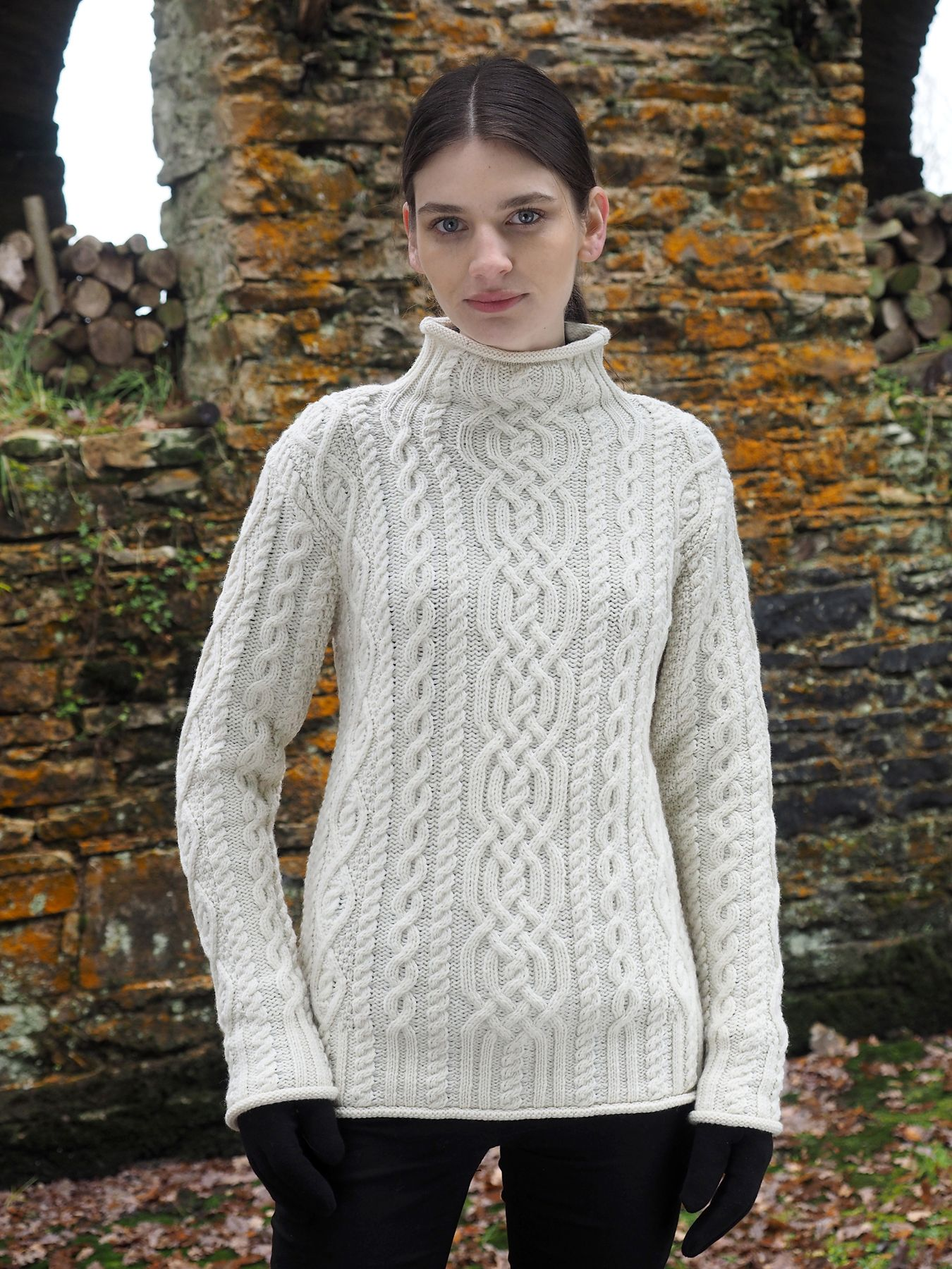 Celtic Ladies Aran Sweater by Natallia Kulikouskaya for AranCrafts ...