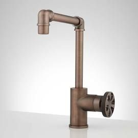 Edison Tall Brass Bathroom Faucet with Pop-Up Drain, Overflow, Oil ...