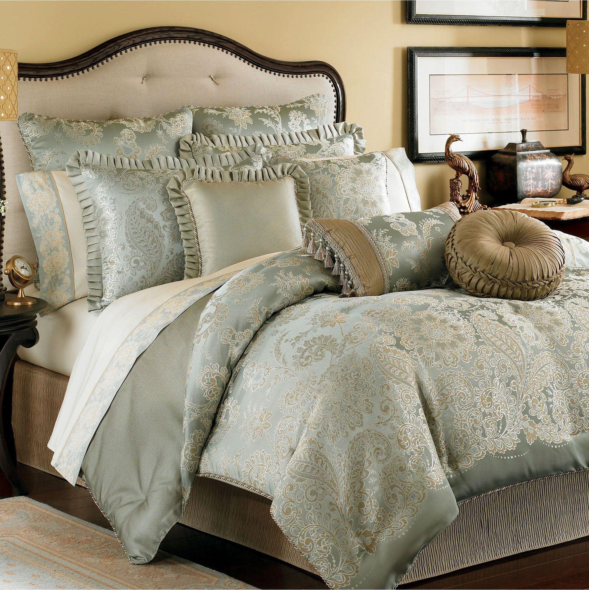Greenwich Comforter Set Aqua Mist by Croscill