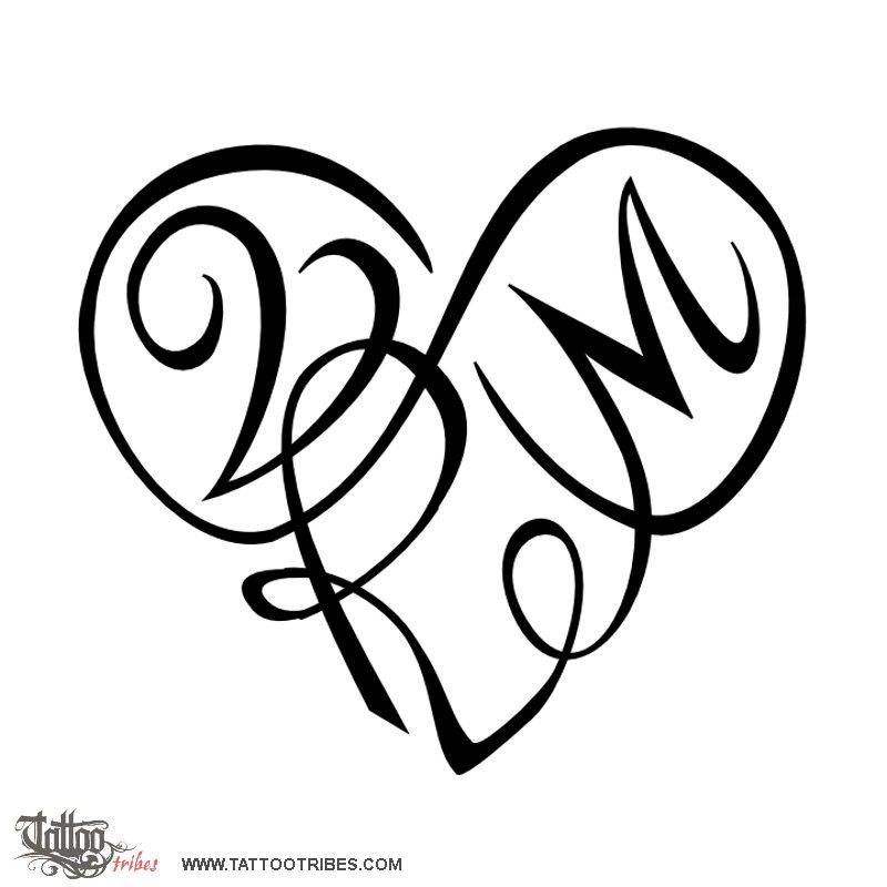 Tatuaggio Di Cuore V+R+M, Legame Eterno Tattoo