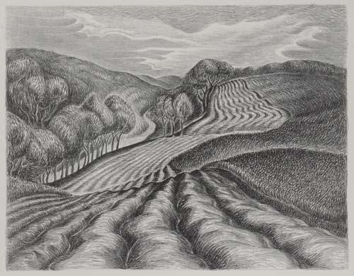 Wanda Hazel Gag (1893-1946) - Ploughed Fields, 1936