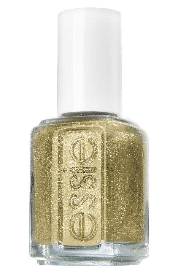 Yes, to glittery gold nail polish!