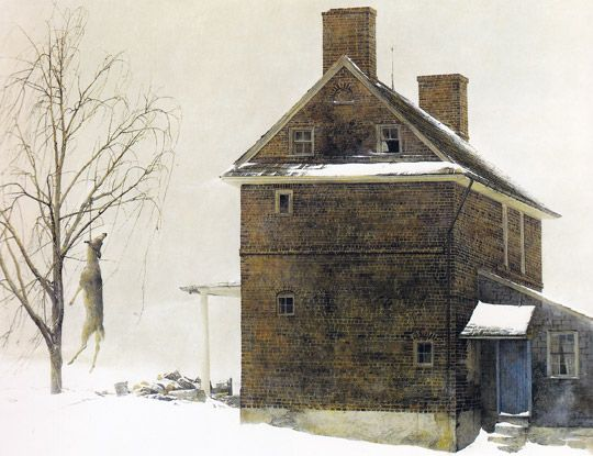 Andrew Wyeth...there is always something so appealing about Wyeth's art! It is a little bit sad, forlorn, lonely...but it still pulls me in. :-)