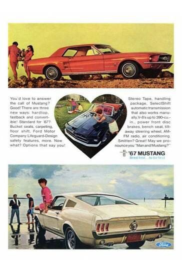 Pin By Ann French On Flashback 60s 70s Car Ads Mustang Ford Mustang